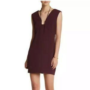 $325 Halston Heritage Purple Tie Neck Dress SZ US2